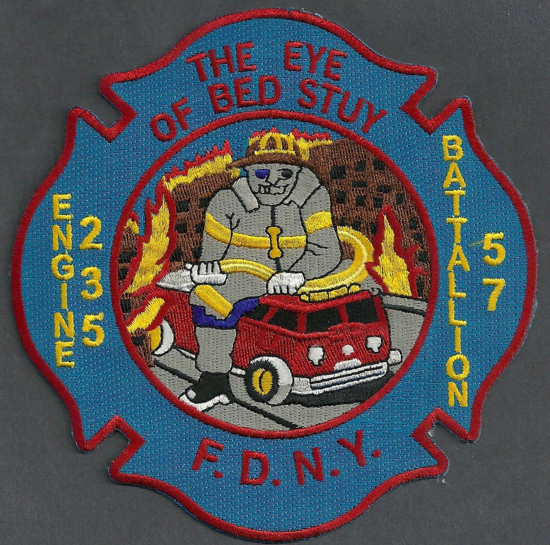 Brooklyn New York Engine 235 Battalion 57 Company Fire Patch