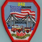 Brooklyn New York Engine Company 242 Fire Patch