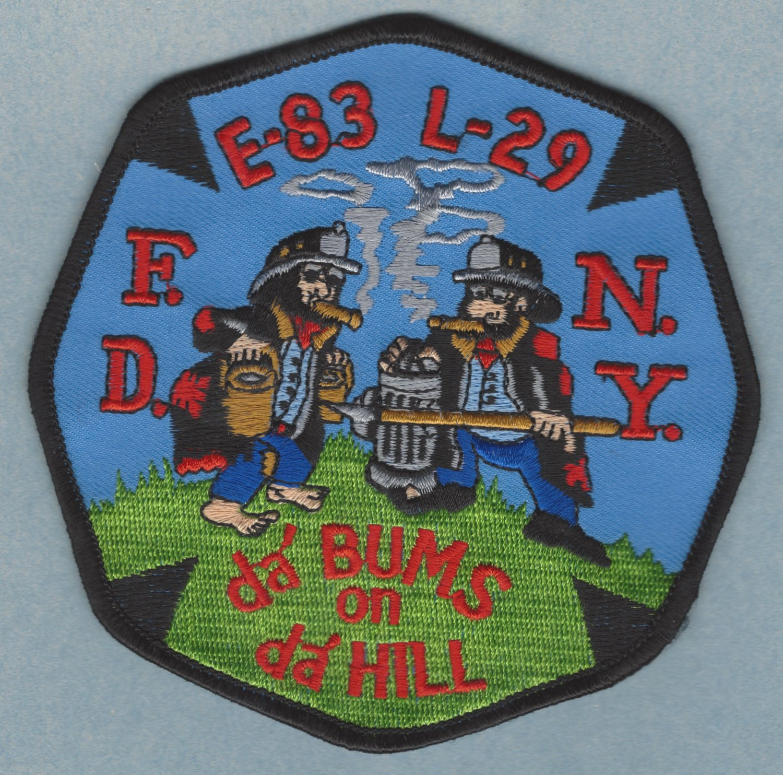 Bronx New York Engine 83 Ladder 29 Fire Company Patch