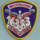Staten Island New York Engine 163 Ladder 83  Company Fire Patch
