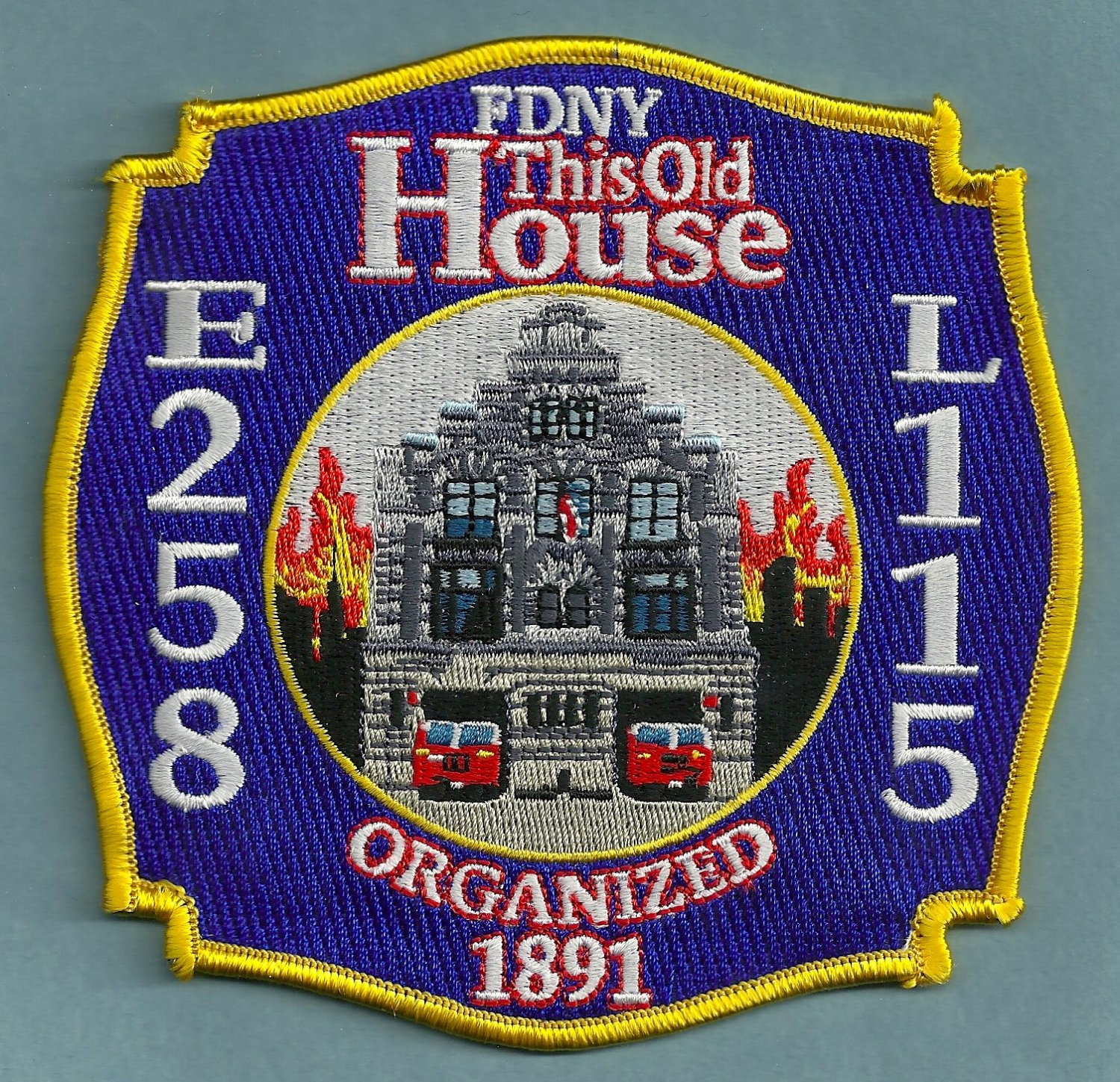 Queens New York Engine 258 Ladder 115 Company Fire Patch