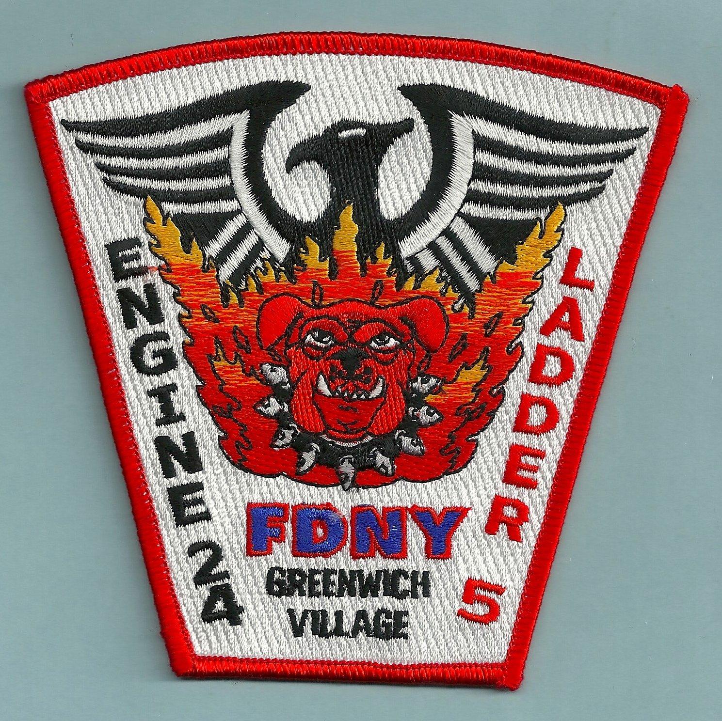 Manhattan New York Engine 24 Ladder 5 Fire Company Patch