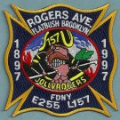 Brooklyn New York Engine 255 Ladder 157 Fire Company Patch