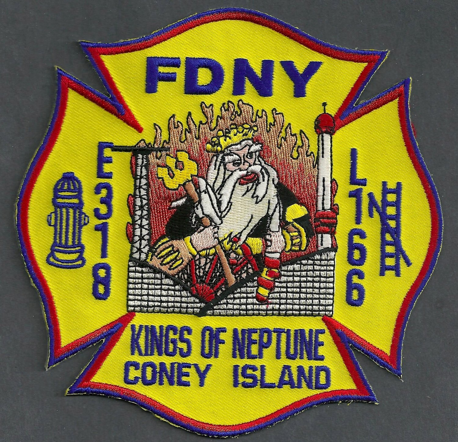 Brooklyn New York Engine 318 Ladder 166 Fire Company Patch