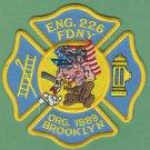 FDNY Brooklyn New York Engine Company 226 Fire Patch