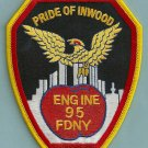Bronx New York Engine Company 95 Fire Patch