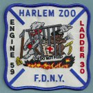 Harlem New York Engine 59 Ladder 30 Company Fire Patch
