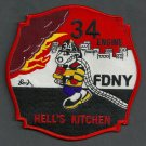 Manhattan New York Engine Company 34 Fire Patch