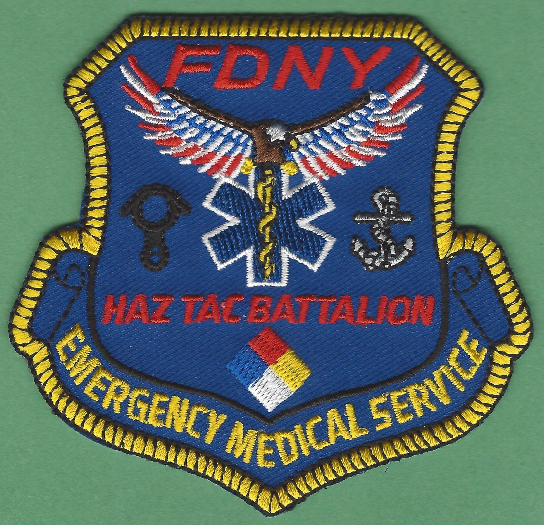 New York EMS Haz Tac Battalion Fire Patch