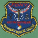 New York EMS Haz Tac Battalion Fire Patch