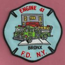 Bronx New York Engine Company 41 Fire Patch