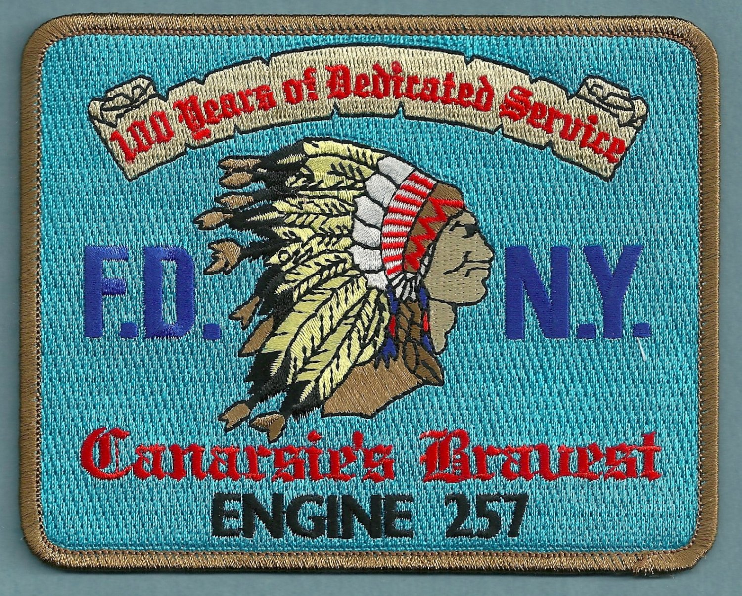 FDNY Brooklyn New York Engine Company 257 Fire Patch