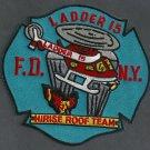 Manhattan New York Ladder Company 15 Fire Patch