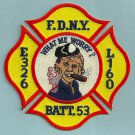 Queens New York Engine 326 Ladder 160 Company Fire Patch