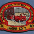 FDNY Manhattan New York Engine Company 2 Fire Patch
