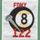 FDNY Brooklyn New York Ladder Company 122 Fire Patch