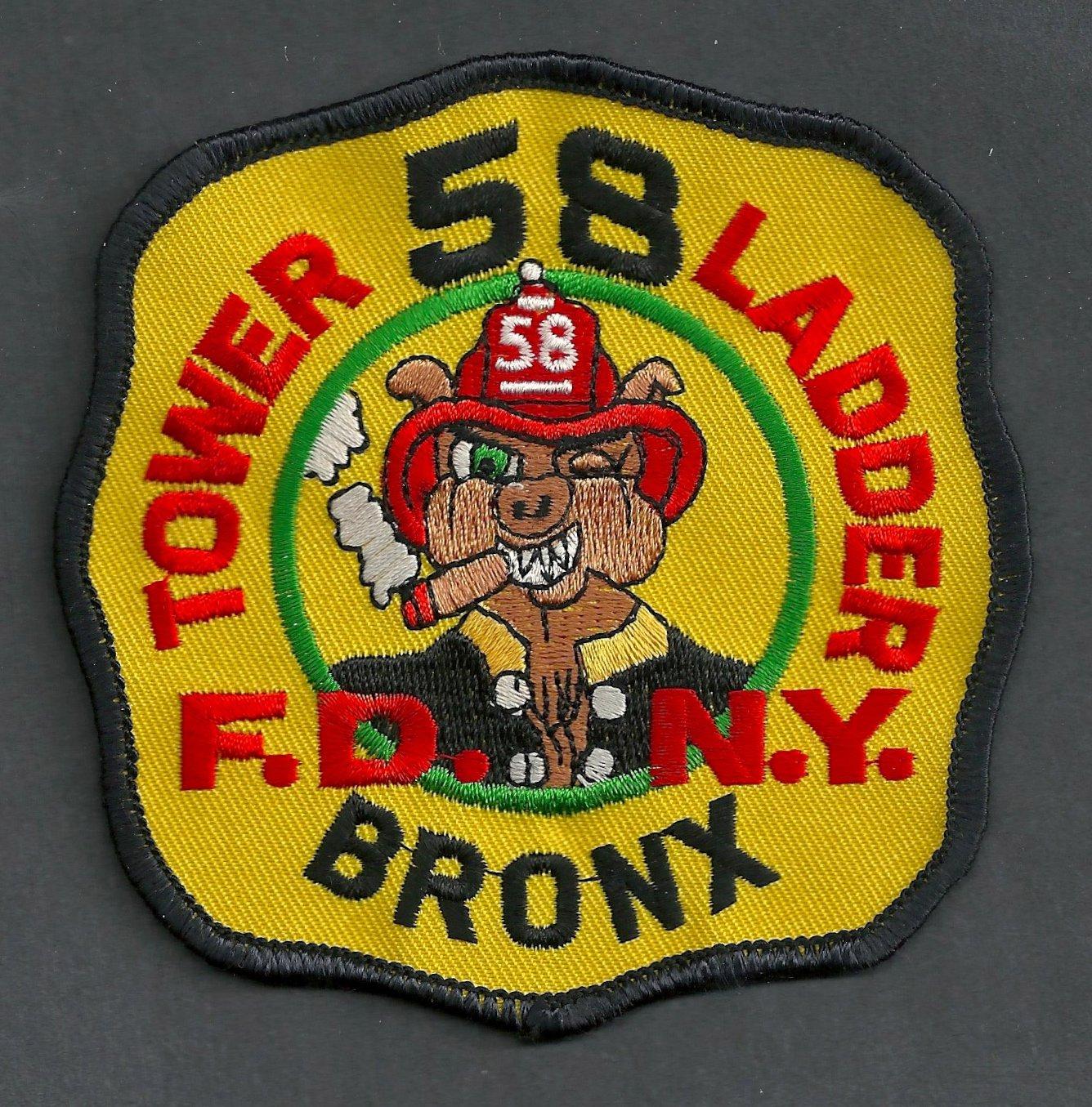 Bronx New York Ladder Company 58 Fire Patch