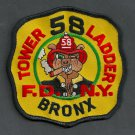Bronx New York Ladder Company 58 Fire Patch