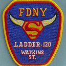 Brooklyn New York Ladder Company 120 Fire Patch