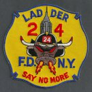 Manhattan New York Ladder Company 24 Fire Patch