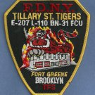 Brooklyn New York Engine 207 Ladder 110 Fire Company Patch