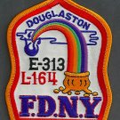 Queens New York Engine 313 Ladder 164 Fire Company Patch