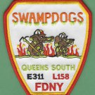 Queens New York Engine 311 Ladder 158 Fire Company Patch