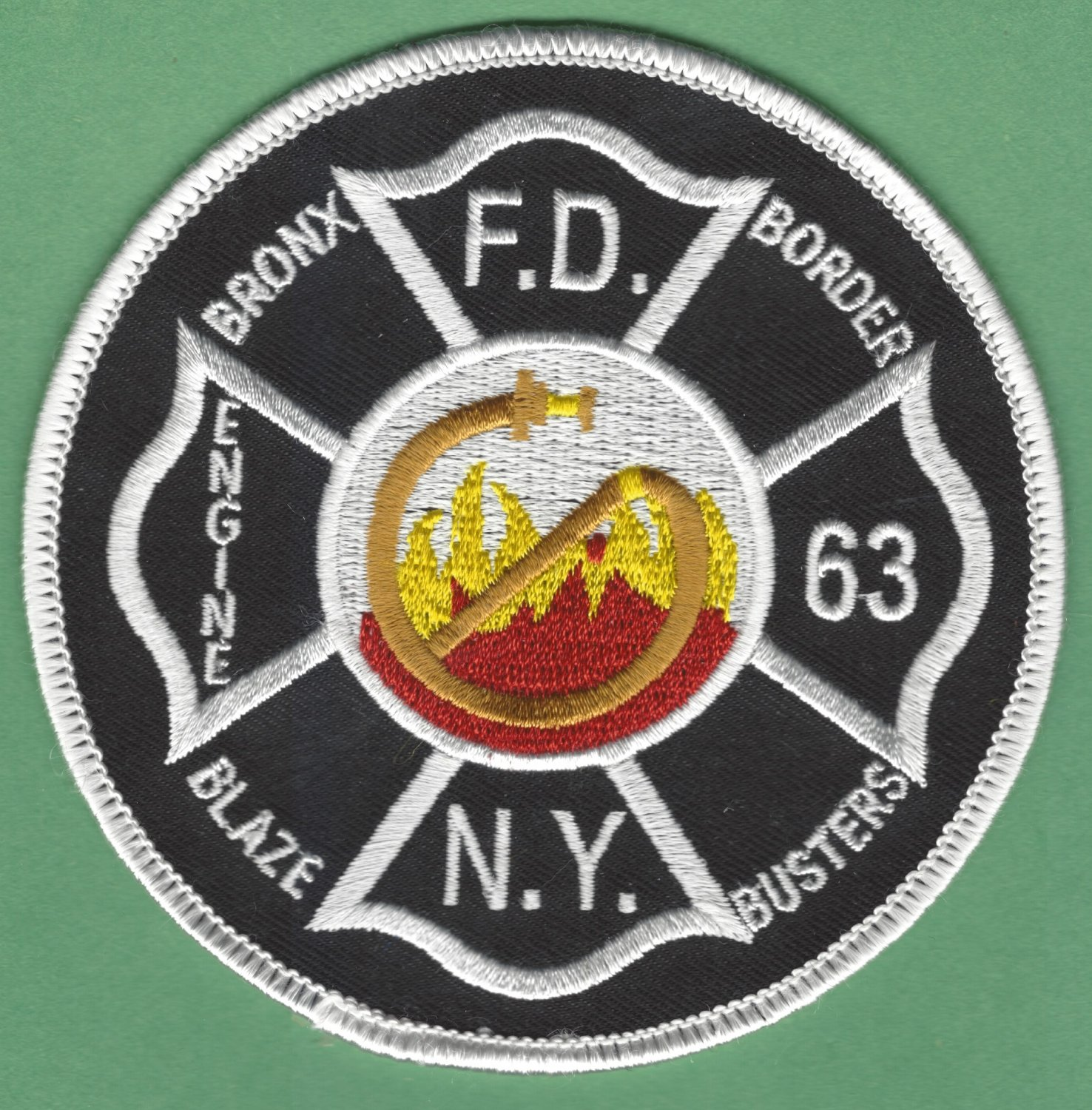 Bronx New York Engine Company 63 Fire Patch