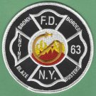 FDNY Bronx New York Engine Company 63 Fire Patch