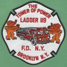 Brooklyn New York Ladder Company 119 Fire Patch