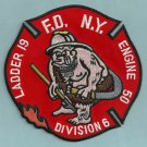 Bronx New York Engine 50 Ladder 19 Fire Company Patch