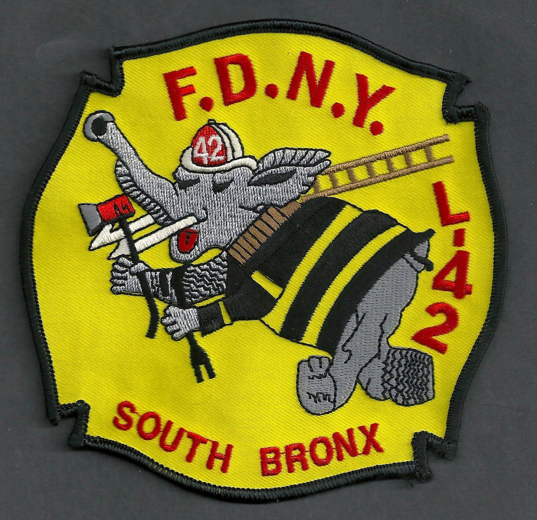 Bronx New York Ladder Company 42 Fire Patch