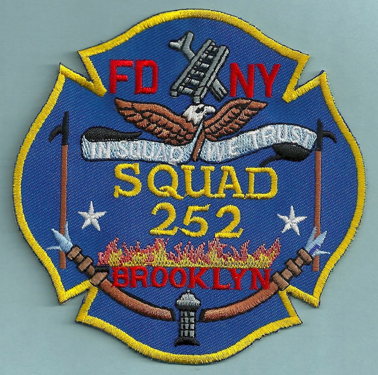 Brooklyn New York Squad Company 252 Fire Patch