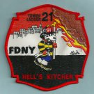Manhattan New York Ladder Company 21 Fire Patch