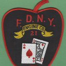 Manhattan New York Engine Company 21 Fire Patch