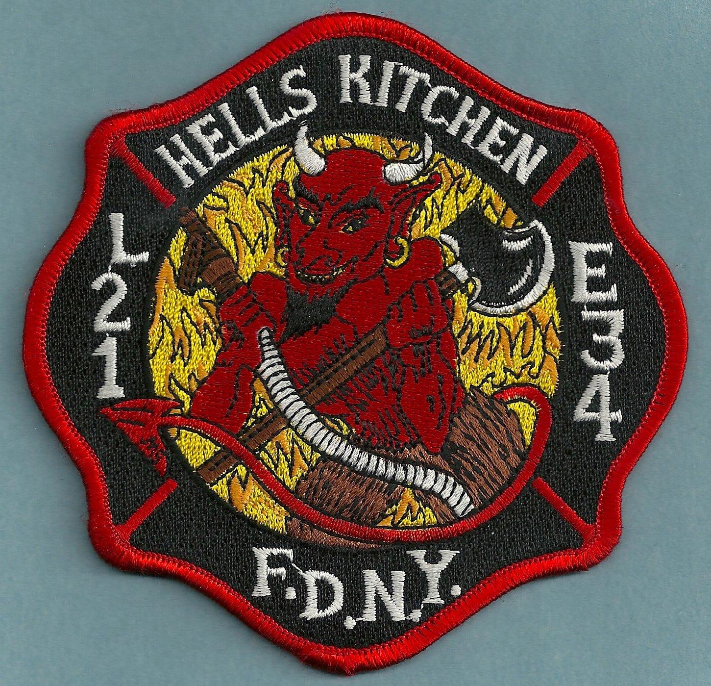 Harlem New York Engine 34 Ladder 21 Company Fire Patch
