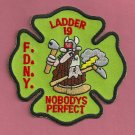 FDNY Bronx New York Ladder Company 19 Fire Patch