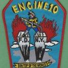 Manhattan New York Engine Company 10 Fire Patch