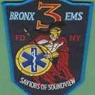 Bronx New York EMS Battalion 3 Fire Patch