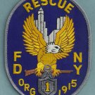 Manhattan New York Rescue Company 1 Fire Patch