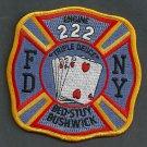FDNY Brooklyn New York Engine Company 222 Fire Patch