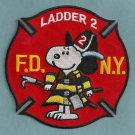Manhattan New York Ladder Company 2 Fire Patch