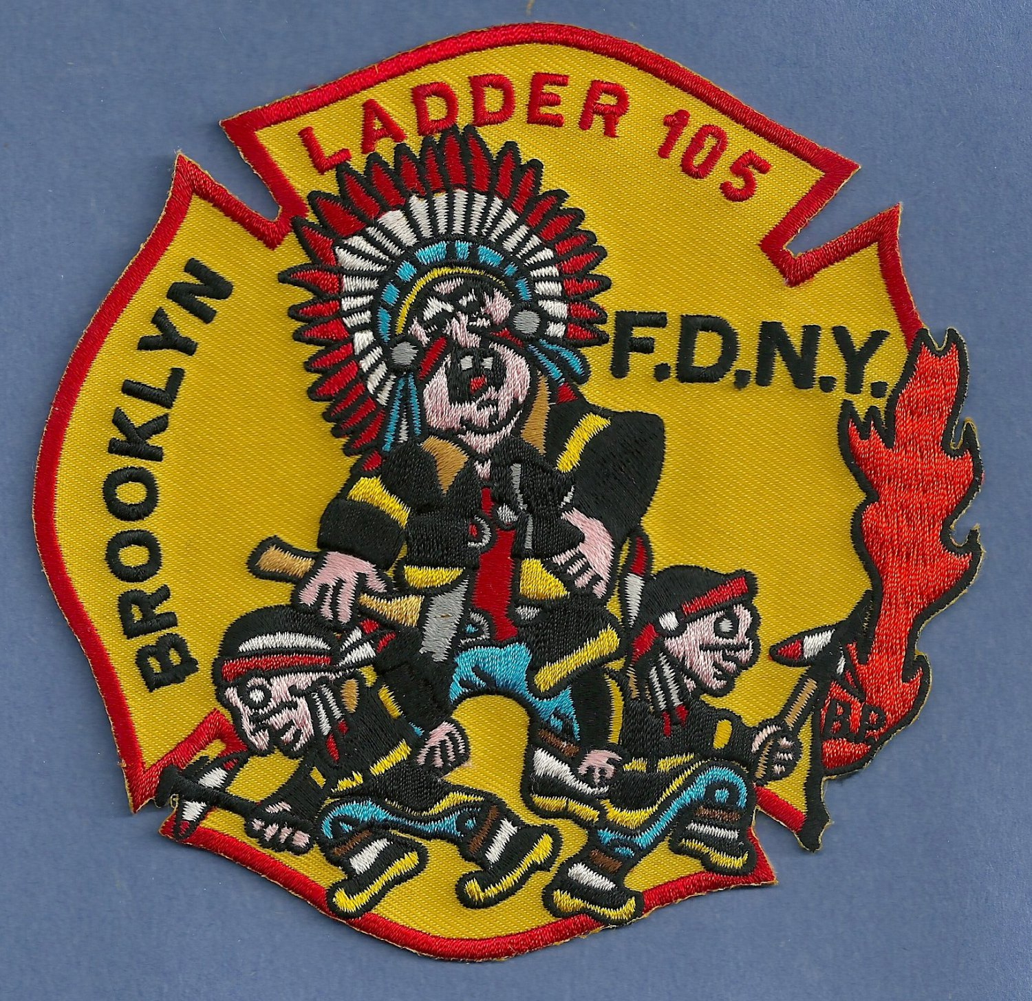 Brooklyn New York Ladder Company 105 Fire Patch