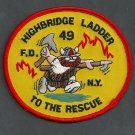 Bronx New York Ladder Company 49 Fire Patch