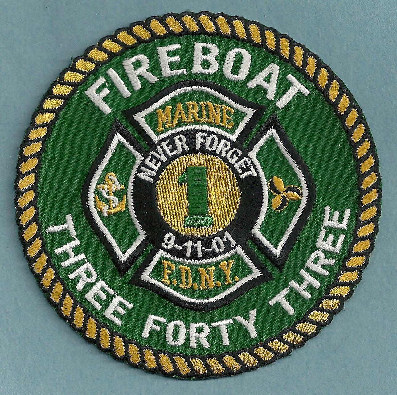 Manhattan New York Fire Boat 343 Fire Patch