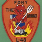 FDNY Bronx New York Ladder Company 48 Fire Patch