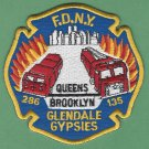 FDNY Queens New York Engine 286 Ladder 135 Company Fire Patch