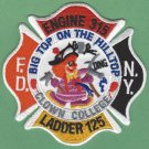 FDNY Queens New York Engine 315 Ladder 125 Fire Company Patch