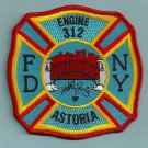 FDNY Queens New York Engine Company 312 Fire Patch