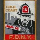 FDNY Manhattan New York Ladder Company 16 Fire Patch